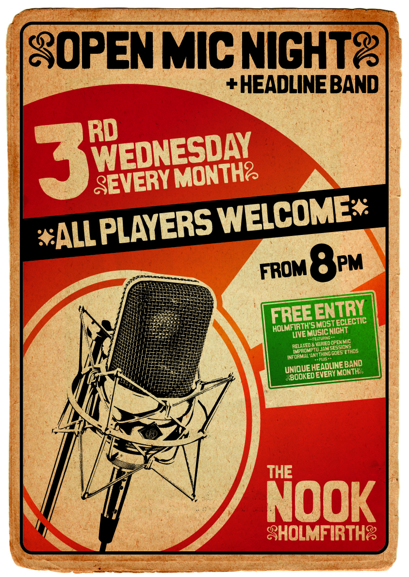 A3 Poster - The Nook Open Mic