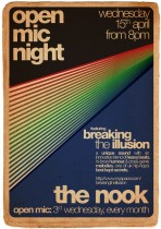A3 Poster – The Nook Open Mic, feat. Breaking The Illusion