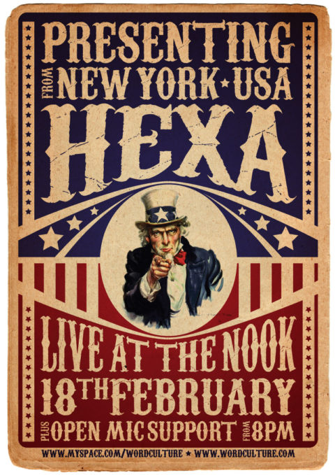 A3 Poster - The Nook Open Mic, feat. Hexa