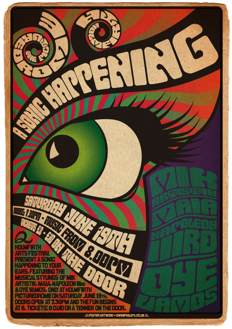 Poster design 1960s - A3 Poster The Sonic Happening