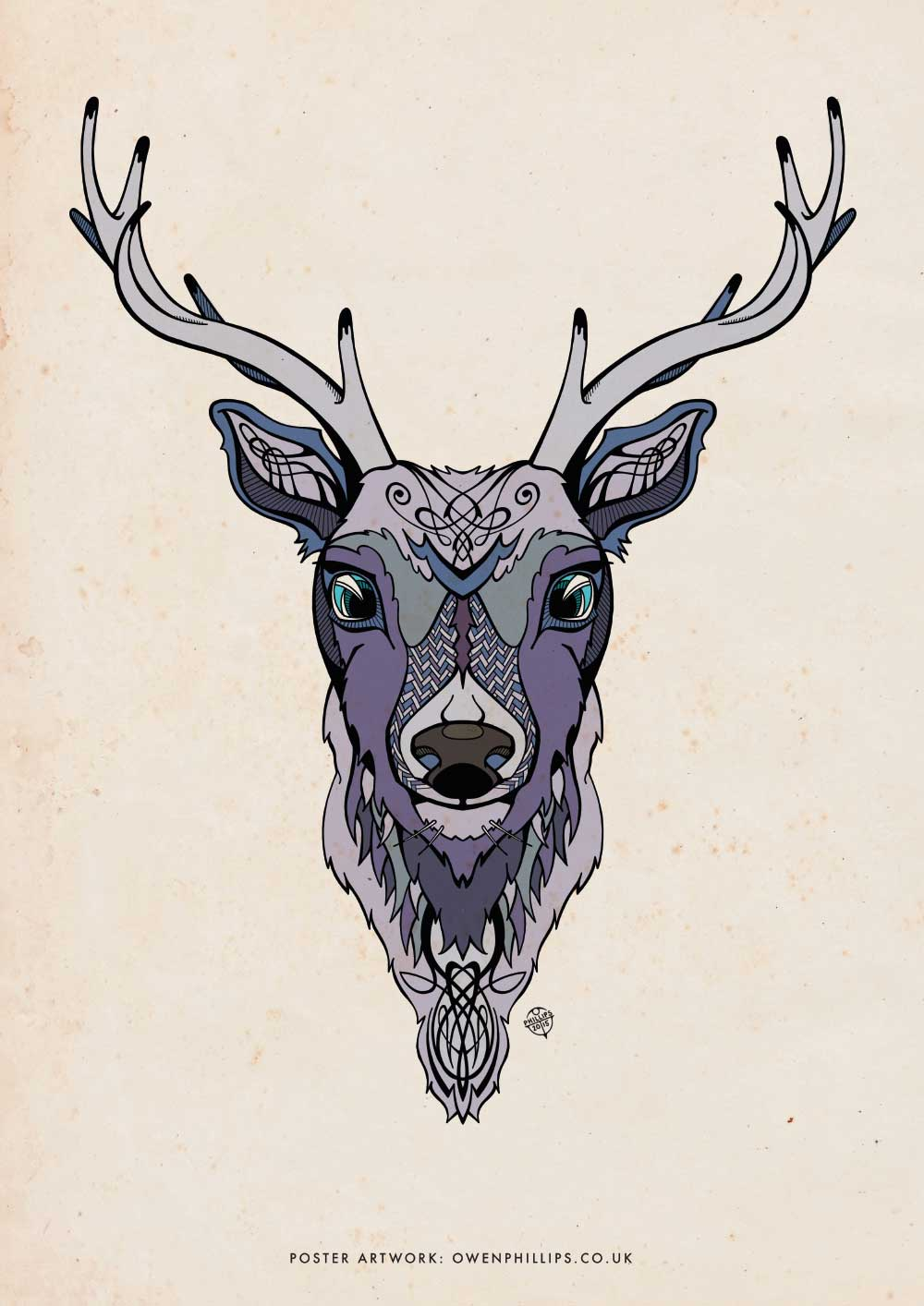 illustrated stag poster � owen phillips � creative design
